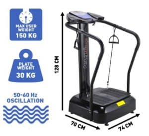 Bluefin Vibration Plate with Built in Speakers