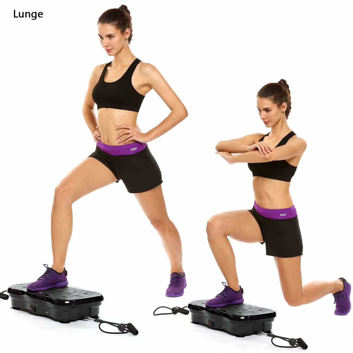 AMDirect Fitness and Body Toning Mini Vibro Power Plate Machine, Built-in USB Music Player with 180 Gears in Mini Size for Better Fitness