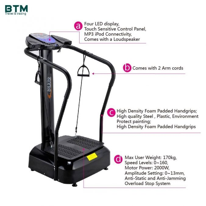 BTM Vibration OSCILLATING Plate Massage Fitness Exercise Machine