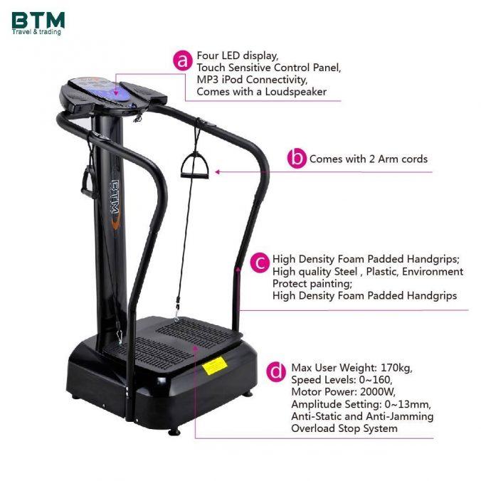 BTM Vibration OSCILLATING Plate Massage Fitness Exercise Machine