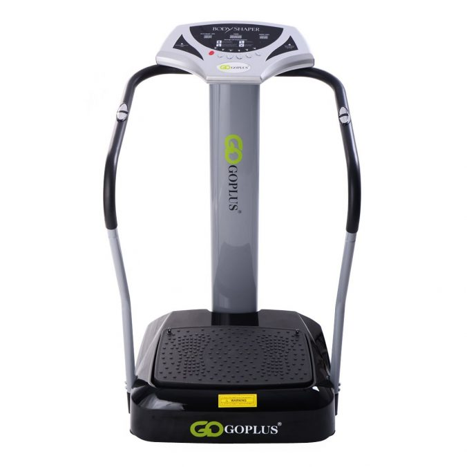 GYMAX 2000-2500W Crazy Fit Vibration Machine with Elastic String