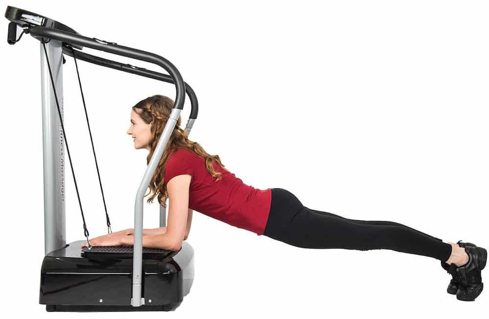 Plank Fitness Exercises with a Vibration Machine